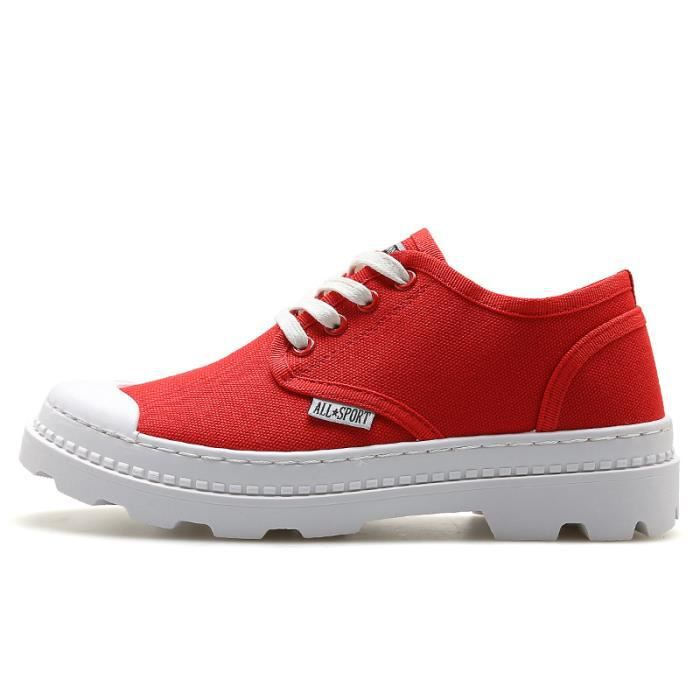 Chaussures en Toile décontractées Chaussures respirantes - Rouge