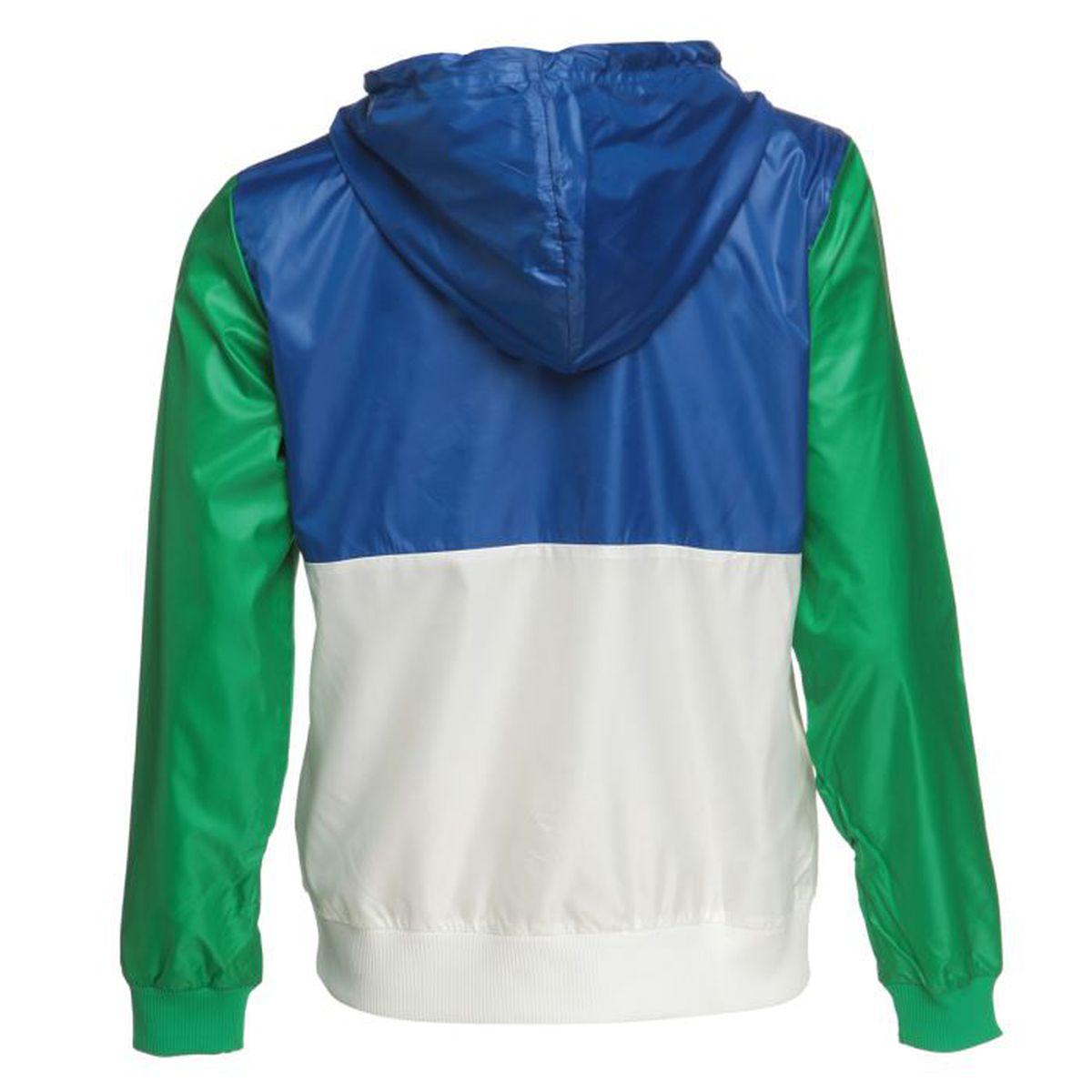 ADIDAS ORIGINALS Veste Zippée Femme Blanc, vert et bleu - Achat   Vente  veste de sport - Soldes  dès le 9 janvier ! Cdiscount 963b8a57adca