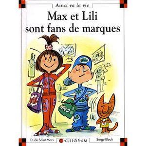 Livre 6-9 ANS Max et Lili sont fans de marque