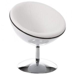 Fauteuil Cuir Blanc Pivotant Achat Vente Pas Cher - Fauteuil pivotant design pas cher