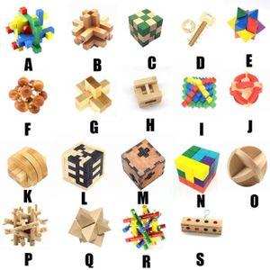 PUZZLE Intelligence en bois jouet chinois Casse-tête jeu