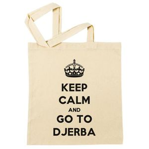 SAC SHOPPING Sac à Provisions - Keep Calm And Go To Djerba  Pla