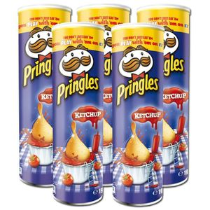 CHIPS Pringles Chips Ketchup 190g, 5 pièces
