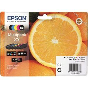 PACK CARTOUCHES EPSON Multipack de 5 Cartouche T3337 Orange - Noir