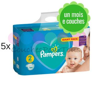 COUCHE 500 COUCHES PAMPERS NEW BABY DRY taille 2