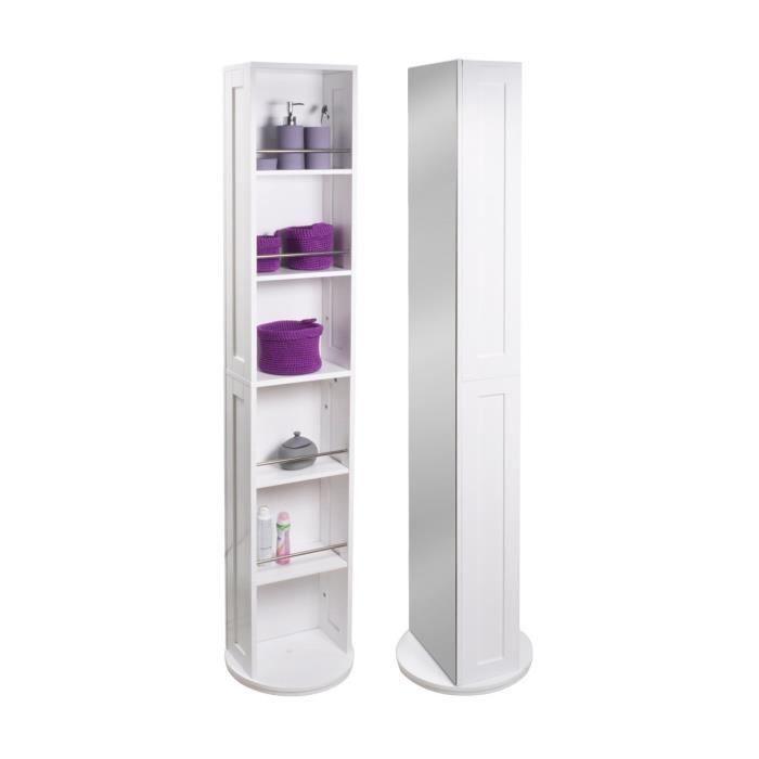 Colonne salle de bain pivotante L 30 cm - Blanc