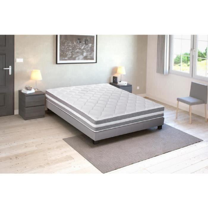 lit ensemble sommier et matelas finlandek chambre. Black Bedroom Furniture Sets. Home Design Ideas