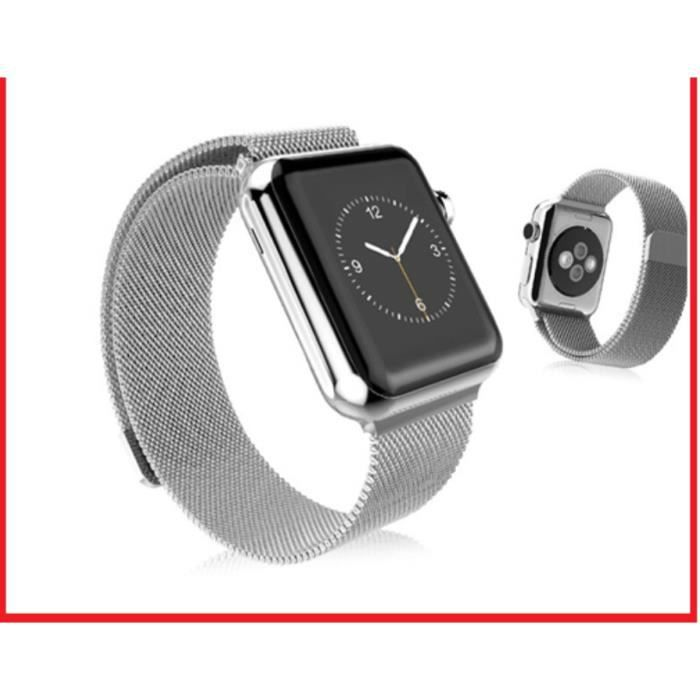 31291f88f96 Bracelet Apple Watch I Watch en acier inoxydable 42 mm