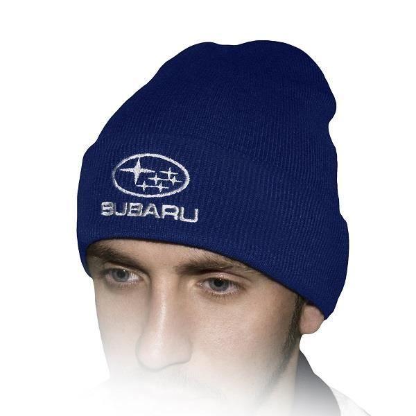 0560a9239779 Subaru Chapeau D hiver Bleu Royal   Brodé Auto Logo Hommes Femmes Bonnet  Tricoté Casquette Baseball Cap Cadeau Noël Fête Père Mari