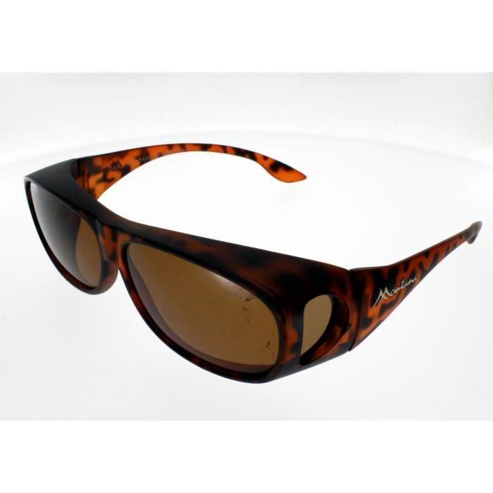 SUR-LUNETTES MONTANA FO2C, écaille mat / verres marrons, polarisées Adulte - Protection 100% UV 400 - Indice 3