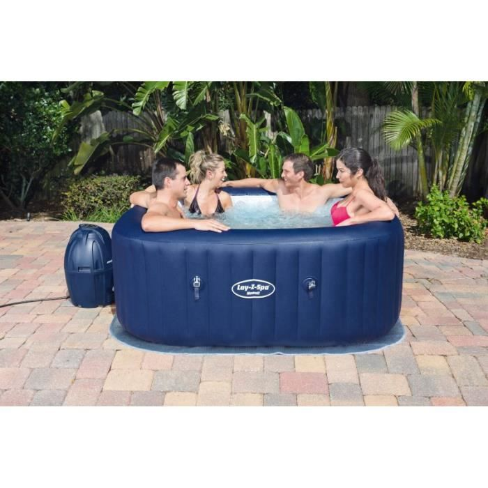 SPA COMPLET - KIT SPA BESTWAY Spa carré Hawai Air Jet - 840L - 6 places