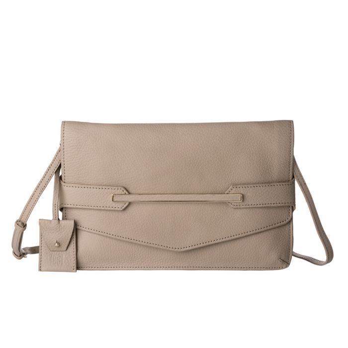 Pochette DuDu Unique Oxford Jenny - Sable Un sac au design minimal mais raffiné, enrichi dun petit détail doré. Parfait pour une