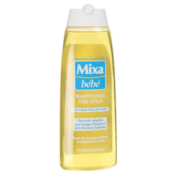 LINGETTES Mixa bébé shampoing hypoallergénique 250ml
