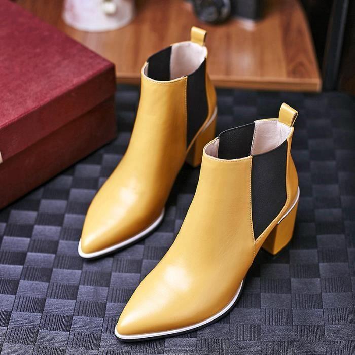Kouan 100% cuir Bottines boots de femmes chaussures de femme haute qualité