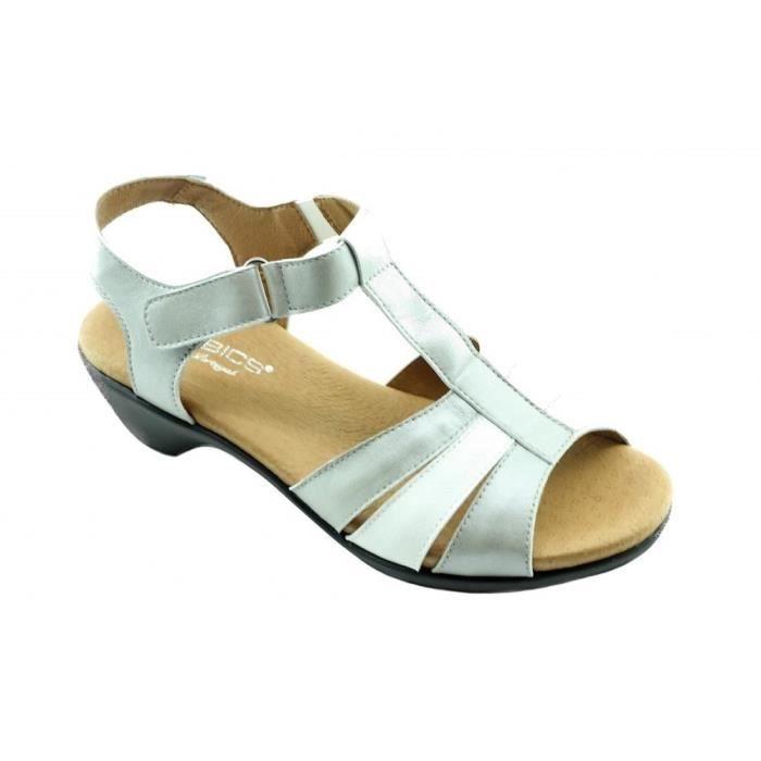 SANDALE - NU-PIEDS Anna - chaussures femme sandales compensées velcro 8dd65a075a00