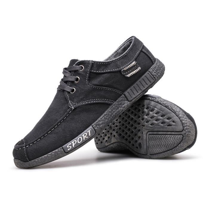 Chaussures En Toile Hommes Basses Quatre Saisons Casual JXG-XZ132Gris44