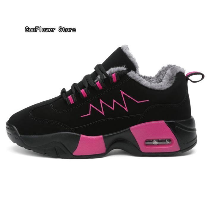 Baskets Femmes Poids Léger Antidérapant Chaussures de sport 2018 Nouvelle arrivee chaussure Grande Taille 35-40 + fluff