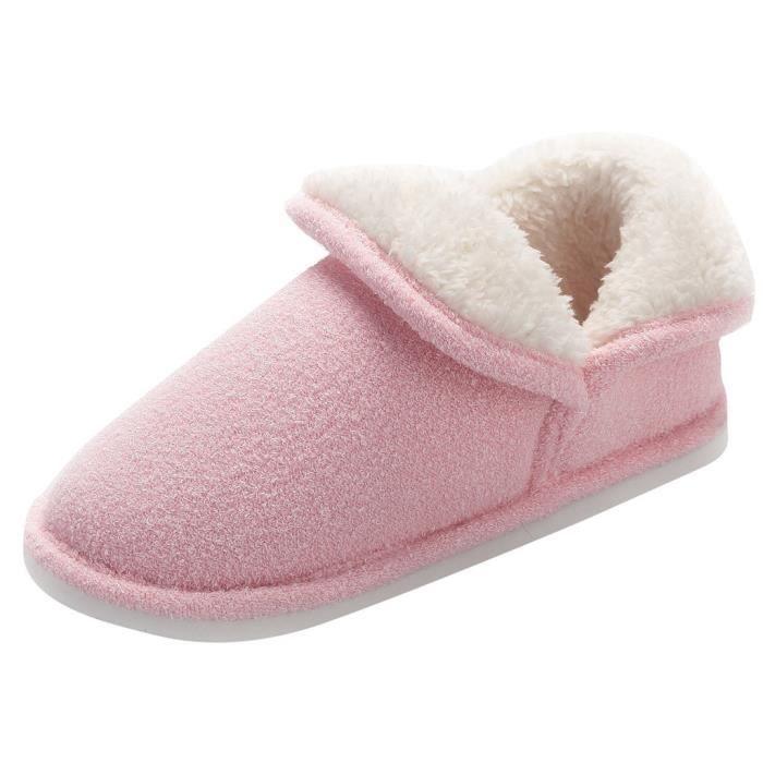 Fond Non Enceintes Coton love6129 Pais Femmes Hiver Pantoufles Doux slip Chaussons 5Bq5U6