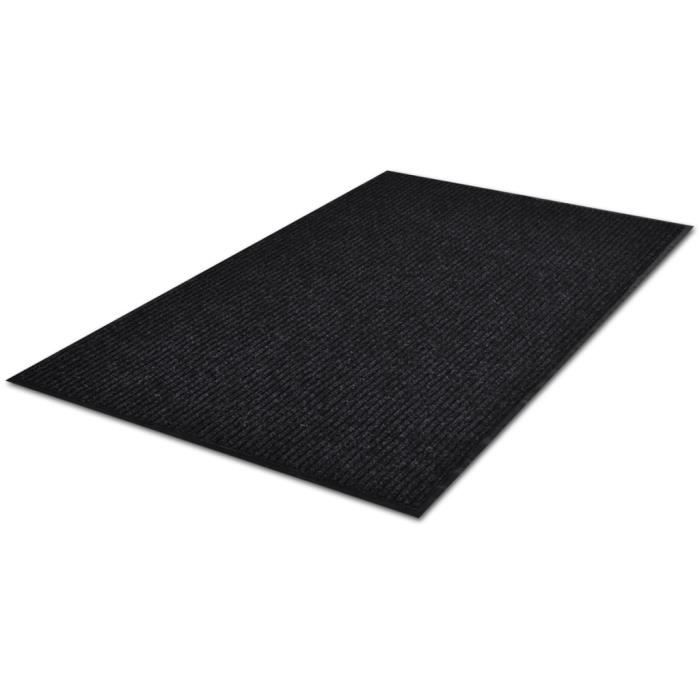 90 x 150 cm tapis d 39 entr e en pvc antid rapant noir tapis. Black Bedroom Furniture Sets. Home Design Ideas