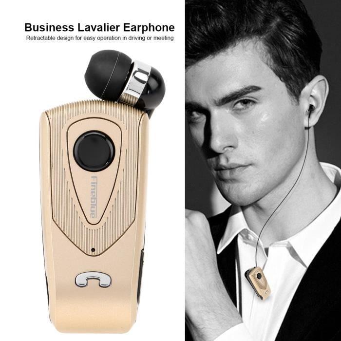 Écouteur Bluetooth Rétractable Intra-auriculaire Business Or----dq France