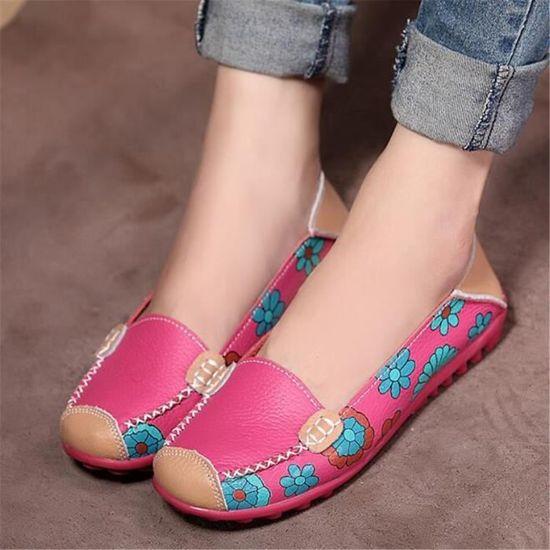 Femmes Printemps Ete Bxx xz056rose41 Cuir Chaussures Mocassins LSpjGUqMVz