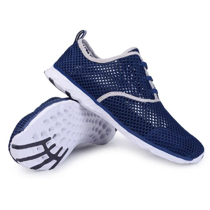 Water Shoes Mens Quick Drying Aqua Shoes Beach Pool Shoes Mesh Slip On PFICF Taille-44