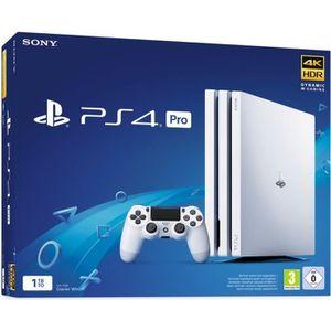 CONSOLE PS4 NOUVEAUTÉ PS4 Pro 1 To Blanche + Qui-es-tu ? (Jeu PlayLink à