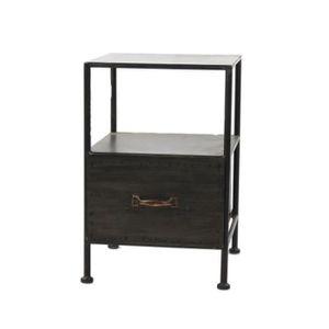 chevet noir tiroir achat vente chevet noir tiroir pas cher soldes d s le 10 janvier cdiscount. Black Bedroom Furniture Sets. Home Design Ideas