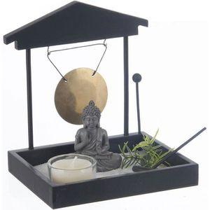 OBJET DÉCORATIF Jardin Zen Japonais Bouddha avec Sable, Gong, phot