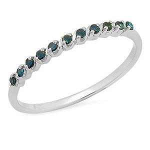 BAGUE - ANNEAU Bague Femme Diamants 0.12 ct  Argent Fin 925-1000