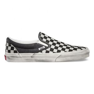 SLIP-ON Vans Classic Slip-On Over Washed Checkers Noir - B