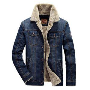 f585d8005b6 BLOUSON Homme d hiver Blouson en jean Casual Denim Jeans p