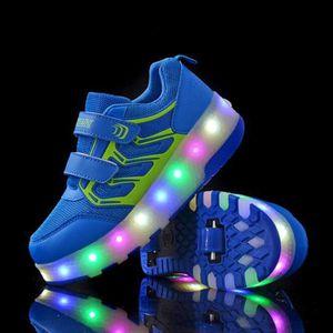 SKATESHOES Chaussures Heely roulette Skateshoes enfant LED lu