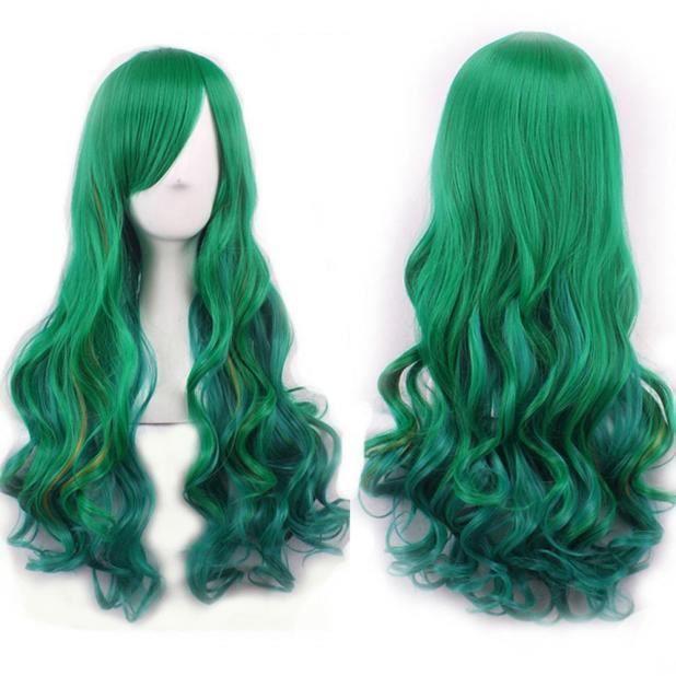 Femme perruque cheveux longs bouclés Curly