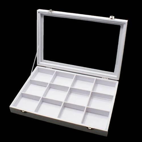Mallette pour bijoux à casiers en PU blanc - 6014 Blanc