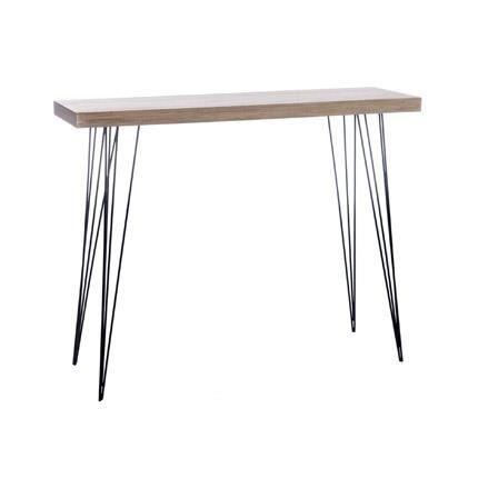 console en bois et pieds m tal coloris bois achat vente console console en bois et pieds. Black Bedroom Furniture Sets. Home Design Ideas