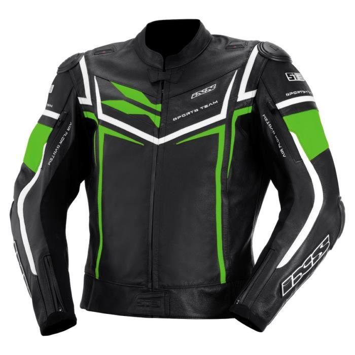 X-Veste cuir STING noir-vert-blanc - Achat   Vente blouson - veste X ... c3970ecacefa
