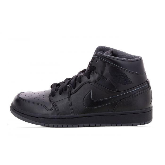 Basket Nike Air Jordan 1 Mid 554724 021 Noir Noir Achat
