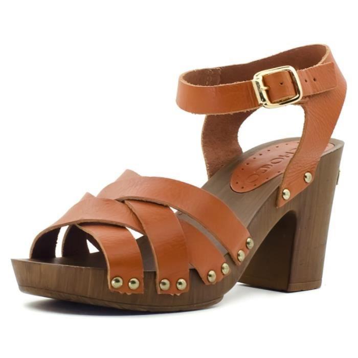 avant-garde de l'époque acheter authentique économies fantastiques Tchocco Marcelina, sandale talon cuir confort Brown - Achat ...