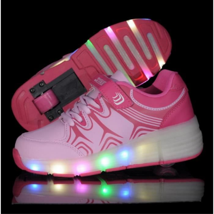 ac89d1285f919 Enfants Chaussures Heelys par des lumières led Rose - Achat   Vente ...