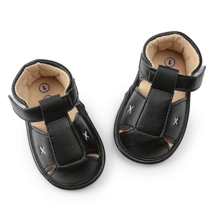 fe920e9bc5ecd Tout-petit Bébé Garçon Sandales fille Chaussures Chaussures espadrille  anti-dérapant souple Sole RW3620 noir