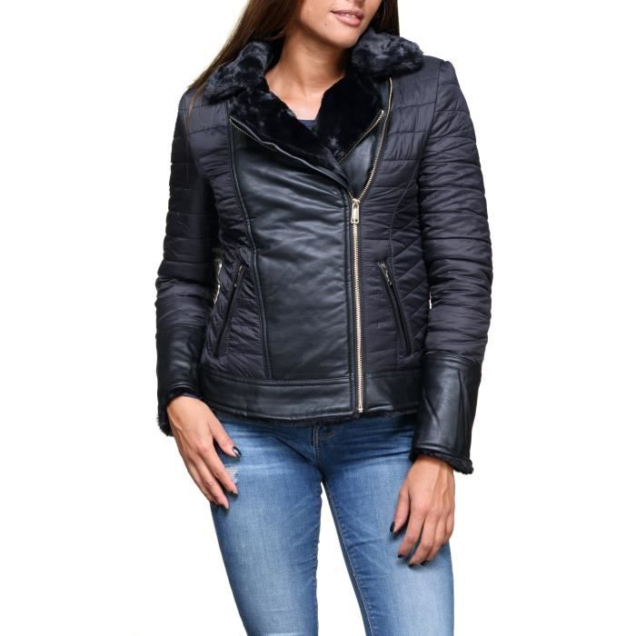Blouson femme Guess W84l90 - W94x0 Jblk Noir Noir Noir - Achat ... 621760d6536