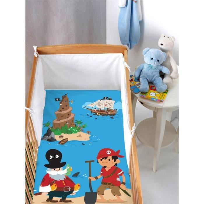 Housse de couette bébé : Pirate (80 x 120 cm) - Achat / Vente housse on
