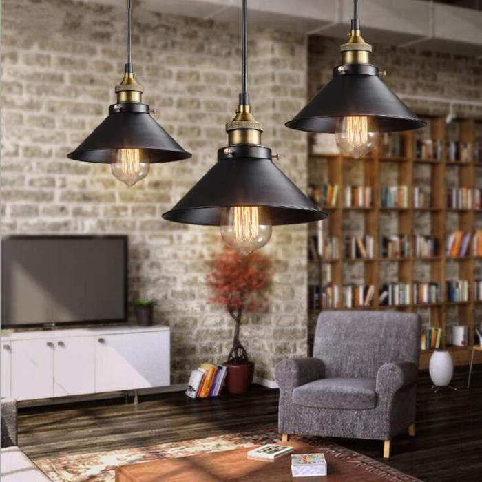 24cm Plafonnier Lampe Rétro Industriel Eclairage Salle à Manger