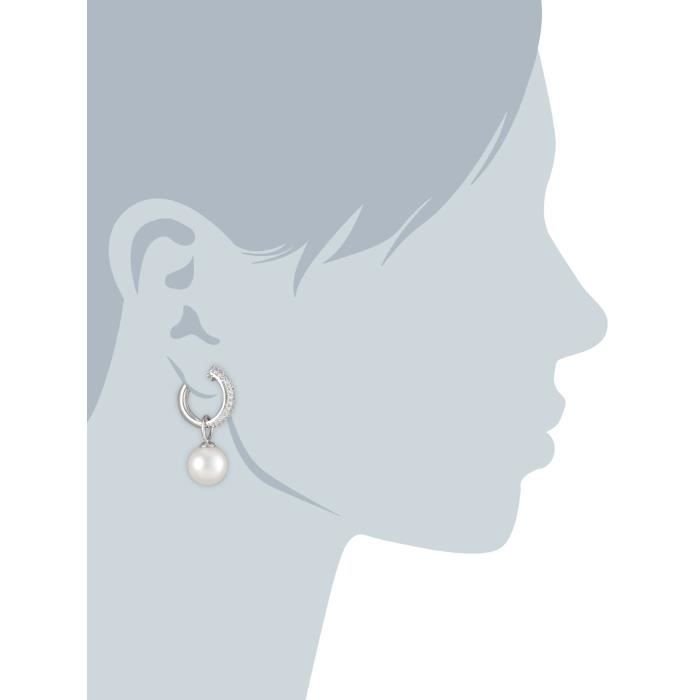 Day And Night Shell Pearl Drop Earrings PV1GT