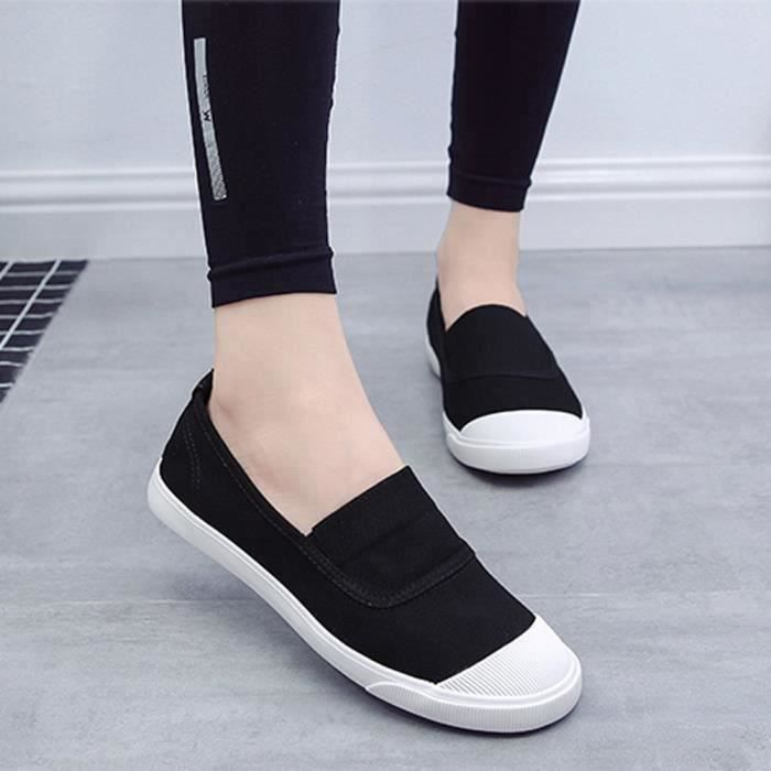 Shoes Minetom Toile Homme On de Loafers Été Plat Chaussures Mokassin Baskets Slip Automne Unisexe Femme ffrqwv