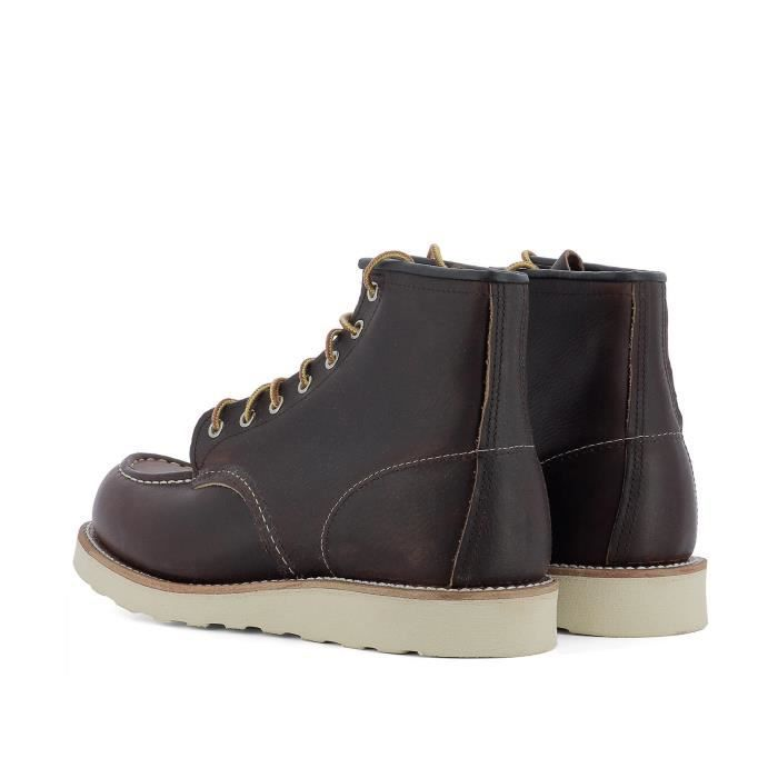 RED WING HOMME 08138 MARRON CUIR BOTTINES