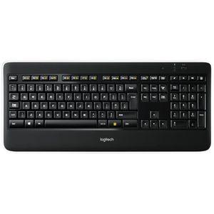 CLAVIER D'ORDINATEUR Logitech clavier sans fil rétroéclairé - K800