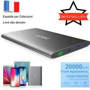 BATTERIE EXTERNE Vinsic® 20000mAh Power Bank Batterie Externe USB à