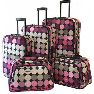 SET DE VALISES Lot de 5 bagages Souples David Jones ASSORTIS - BA